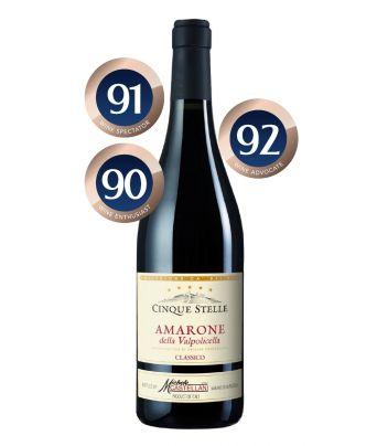 Amarone Cinque Stelle 2015 by Castellani Michele & Figli. Distributed by Allegro Fine Wines Singapore.
